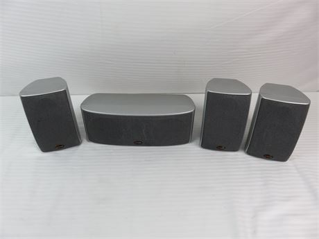 Lot of 4 Polk Audio Surround Sound Speakers RM2350, Center Channel RM2660 (670)