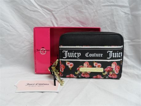 Juicy Couture Black Roses Wallet