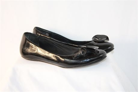 Cole Haan Black Patent Leather Flats Shoes Size 6.5