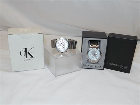 Two Mens Watches Calvin Klein & Kenneth Cole