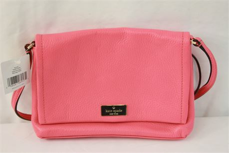 Kate Spade New York Hot Pink Leather Crossbody Bag Purse