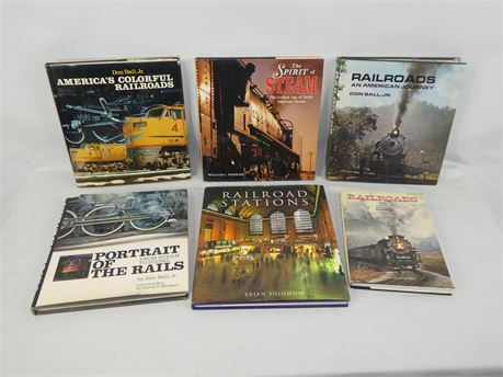Lot of 6 Hardcover Train Books Don Ball Jr. National Geographic Solomon