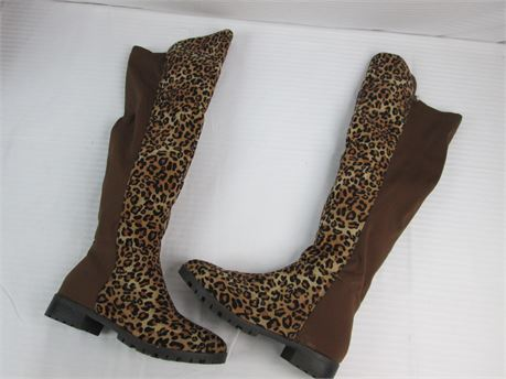 Forever21 Cheetah Print Boots-Used (670)
