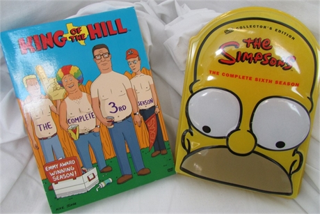 King of the Hill Complete 3rd Season & The Simpsons Complete Sixth Season DVDs